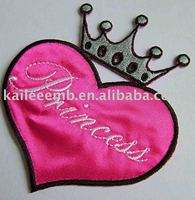 Heart-Shaped Embroidered Patch and Badge