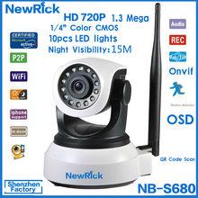 Full HD Onvif PT Pan / Tilt 720p p2p indoor ip robot hd camera