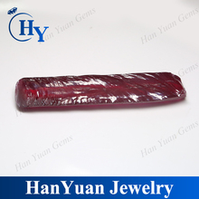 Wuzhou hot sale raw ruby material synthetic untreated 5# red ruby