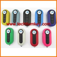 Wholesale Price remote 3 button modified folding flip car keys fob for Fiat 500 key blank fob with 9 colors