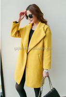 new arrival women long woollen coat for winter 2014 keep warm women clothes