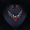 hawaiian cute Hepburn cherry necklace, diy jewelry set(SWTJUQM024)