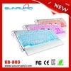 Metalic USB Backlit Gamer Keyboard, LED Gaming Keyboard with Macro Programmable Keys