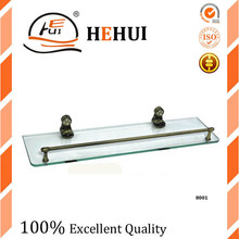 RC-8001 double glass shelf holder bathroom shelf bathroom fitting for shower accessory 022
