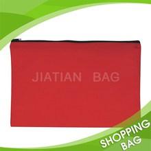 Reusable Small Size Solid Color Non Woven Zipper Gift Bag