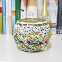 Wholesale Turkish Mosaic Glass Tea Light Candle Holder