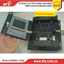 4 ch h 264 network dvr software bus dvr car dvr with wifi gps ,VR8800-3GW