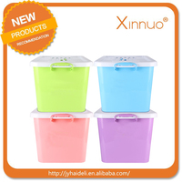 colored plastic storage box wholesale PP storage container with wheel