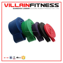 2015 hot sale latex rubber exercise stretch resistance loop bands for Yoga and Pilates