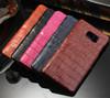 Crocodile pattern Genuine Leather For Galaxy Note5 Wallet case slim leather case for Galaxy Note 5 card wallet purse
