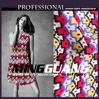 New automn vintage ladies garment digital printing 95 polyester 5 spandex fabric