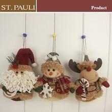 Happy kids gifts christmas tree decoration ornament 3/S santa&snowman&reindeer