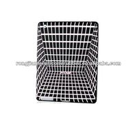 3D case cover for Ipad white lines withe blacke grid style protective silicone case for Ipad2