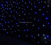 Black LED Background Light Star Stage Curtain