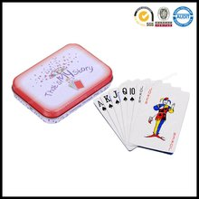 high quality printing poker playing cards set packed in custom print tin box
