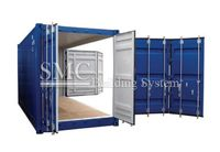 40ft open side container