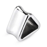 Triangle Flared ThickSteel Ear Plugs Gauges Ring Tunnel Piercing Jewelry
