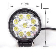 2015 Hotsale Cheap Price 27W Round LED work light Car Led Tuning work Light
