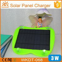 Factory wholesale Solar panel power bank, 3W window solar charger