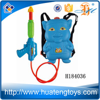 H184036 Wholesale children favorite toy cartoon shape blue pig water gun with backpack