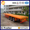 3 axles 40ft platform trailer for container transportation