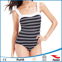 International Concepts Striped two tone swimsuits 2015
