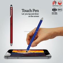Thin and long plastic touch ball pen