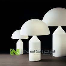LP255 Replica white glass Oluce Atollo Table Lamp