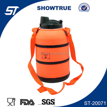 big size plastic sport water bottle with nylon straps