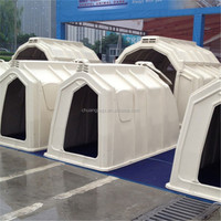 Animal Livestock Customized Cow House , Calf Hutch with Roof Glass Fiber Reinforced Plastics