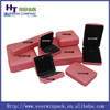 luxury red leather jewelry gift box custom fancy metal jewelry boxes