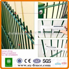 cheap double wire mesh fence, prefab iron fence panels