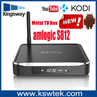 Best price MXQ updated version M10 4K android tv box Amlogic S812 quad core A9r4 2GHz MXQ M10 Metal box with 2G/8G