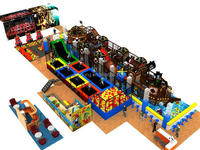 Popular indoor PVC flooring playground made in china