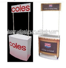 Simple Design Folding Strong ABS Body Iron Poles Customsize Promotion Tables for Shop Outdoor Advertising Display