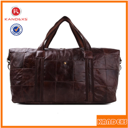 Top Quality Leather Personalized Travel Bags Handbag Outdoor Bag