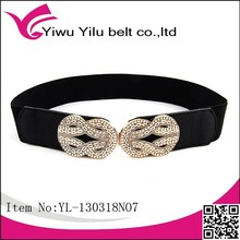 2015 waist women belts with embossing buckle