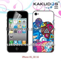 3D skin for iphone4s/ iphone skin/iphone sticker