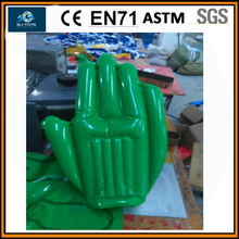 Green color inflatable cheering hands,inflatable fingers with logo printing