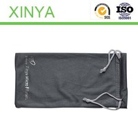 Modern stylish/Pattern/Double rope / text/Heat transfer/Custom Microfiber Glasses Bags with Compounded ClothFor Glasses