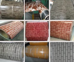 brick grain color coated steel coil for Ukraine wall cladding metal roof