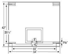 Official Glass Backboard Basketball Hoop and Wall Mounted Up-Folding Unit Official Glass Backboard Basketball Hoop