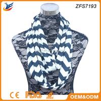 2015 fashion trend striped nech warmer scarf chevron loop scarf