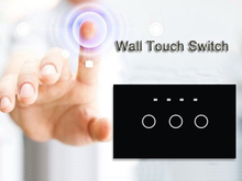 Home Automation US 3 Gang 1 Way Wireless Remote Touch Wall Light Switches Plates Covers