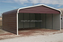 metal shed as carport/horse shelter/animal barn