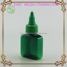 30ml green rectangle plastic bottle twist,e cigarette dropper bottles with twist cap