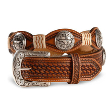 MEN'S STAR & STEER LEATHER BELT
