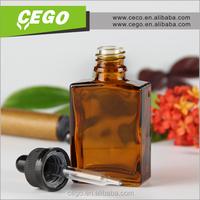 New design rectangle glass perfume dropper bottle amber glass bottle ship by DDU