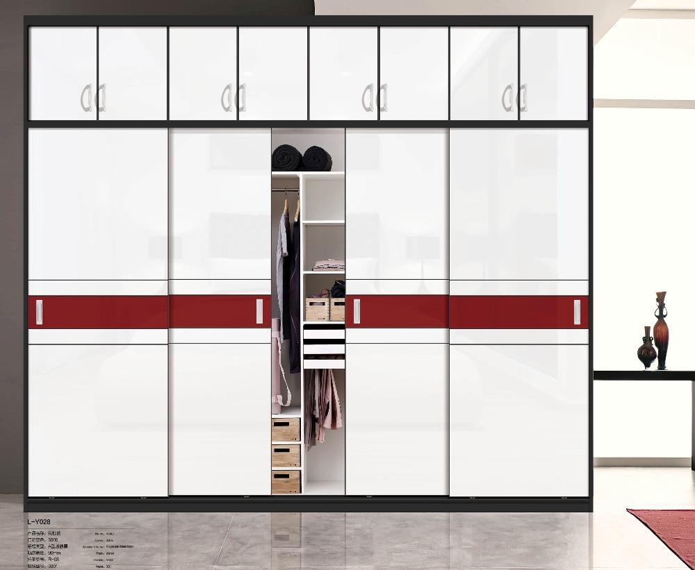 Pas cher garde robe de chambre porte coulissante en bois - Systeme de porte coulissante pas cher ...