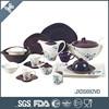 NEW fine porcelain oval shape dinner set ! 69pcs with sliver dots decal dinnerware